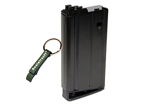 WE  1 WE 31rds Airsoft Gas Magazine Scar-H Series GBB Black -Mobile Ring Included