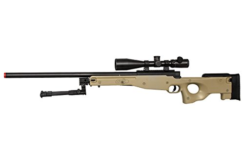 Well Airsoft Rifle 2 Well Airgunplace Type 96 AWP Bolt Action Airsoft Tan Color Sniper Rifle