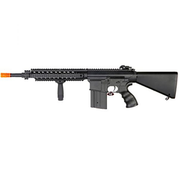 MetalTac Airsoft Rifle 2 MetalTac JG FB-6651 SR25K Electric Airsoft Gun Sniper Rifle, Full Metal Body, Metal Gearbox Version 2, Auto AEG, Upgraded Powerful Spring 410 Fps with .20g BBS