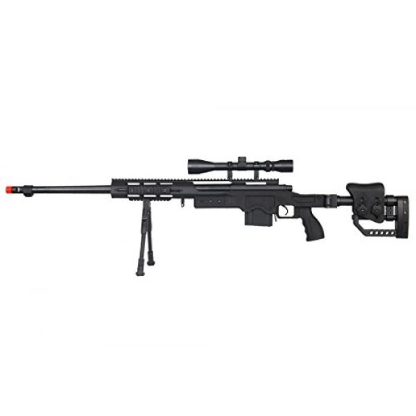 Well Airsoft Rifle 1 Well MB4411BAB Spring Bolt Action Airsoft Rifle (Black)
