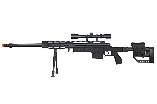 Well  1 Well MB4411BAB Spring Bolt Action Airsoft Rifle (Black)