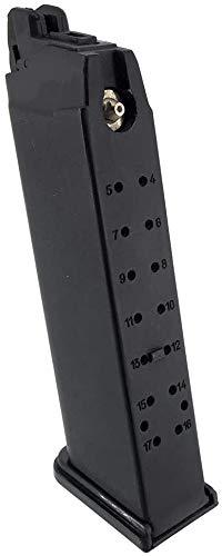 SportPro  3 SportPro Bell 22 Round Metal 12g CO2 Cartridge Gas Magazine for GBB G17 Airsoft - Black