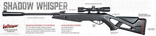 Gamo  3 Gamo Shadow Whisper .177 Caliber Break Barrel Air Rifle with Scope