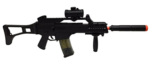 Double Eagle  2 JustAirsoftUSA M85 Electric Rifle Airsoft Gun w/ accessories