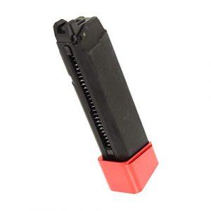 Generica Airsoft Gun Magazine 1 Airsoft Spare Parts 22rd Gas Mag Metal Magazine for G17 Series GBB Pistol Black/Red Base