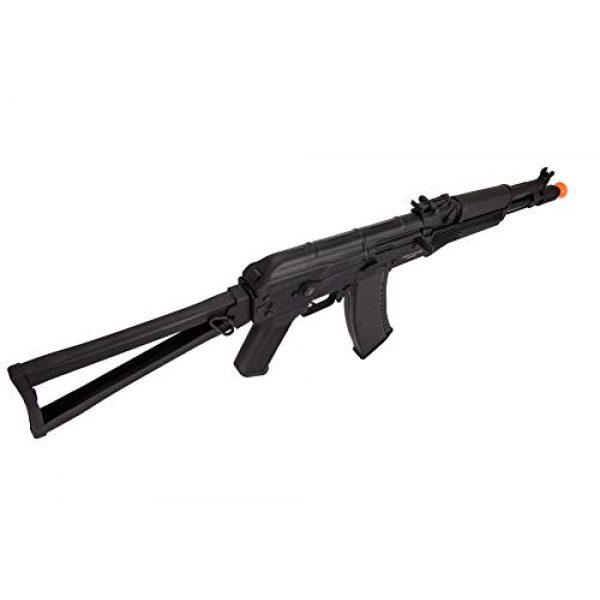 Lancer Tactical Airsoft Rifle 3 Lancer Tactical AK-Series AKS-105 AEG Airsoft Rifle with Skeleton Foldable Stock Black