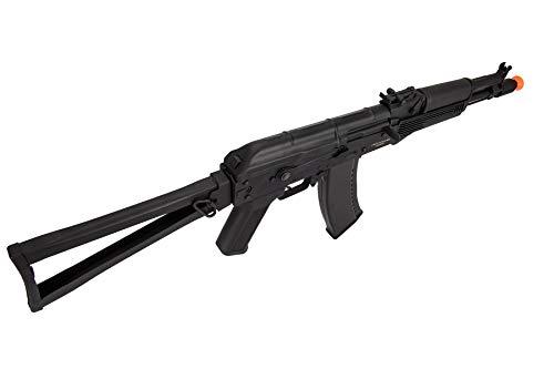 Lancer Tactical  3 Lancer Tactical AK-Series AKS-105 AEG Airsoft Rifle with Skeleton Foldable Stock Black