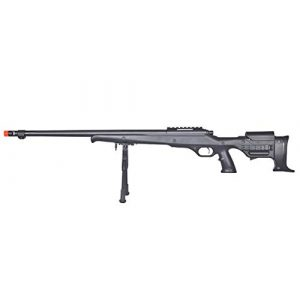 Well Airsoft Rifle 1 Well MB11 Airsoft Sniper Rifle W/Bipod - Black