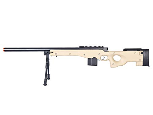 Well  1 Well MB4401 Airsoft Sniper Rifle W/Bopid - Tan