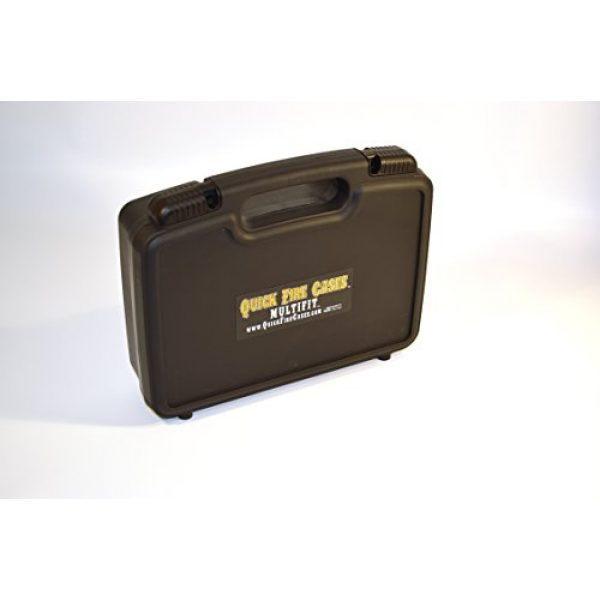 Quick Fire Cases Pistol Case 2 Quick Fire Cases QF200 MultiFit Pistol Case, Black, Small