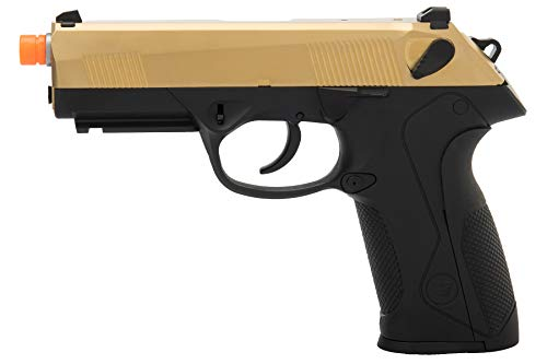 Lancer Tactical  1 Lancer Tactical WE Bulldog Full Size Full Metal Gas Blowback Airsoft Pistol Titanium Gold 280 FPS