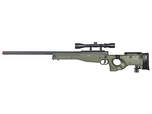 Well Airsoft Rifle 1 Well MB08 Airsoft Sniper Rifle W/Scope - OD Green