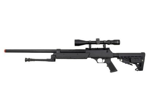 A.S.A.R.  4 well asr heavy single bolt action spring sniper airsoft rifle(Airsoft Gun)