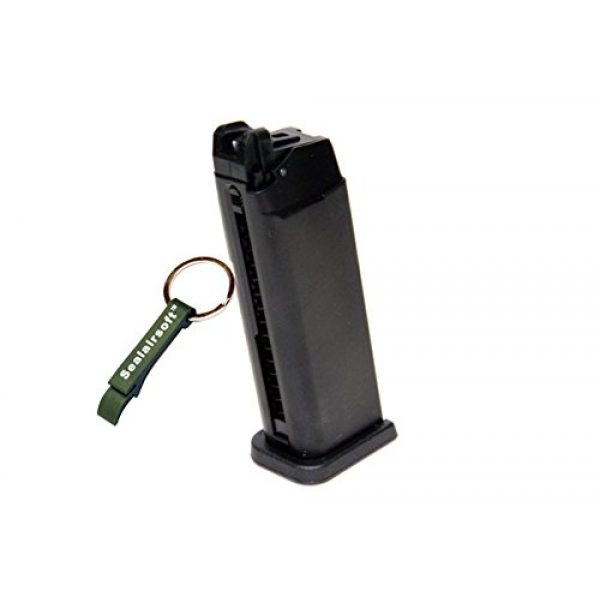 WE Airsoft Gun Magazine 1 WE 20rds Gas Airsoft Magazine G19 G23 GBB Series Black -Mobile Ring Included