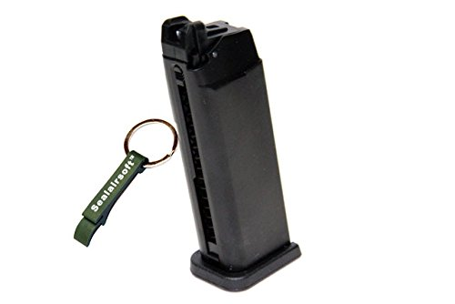 WE  1 WE 20rds Gas Airsoft Magazine G19 G23 GBB Series Black -Mobile Ring Included