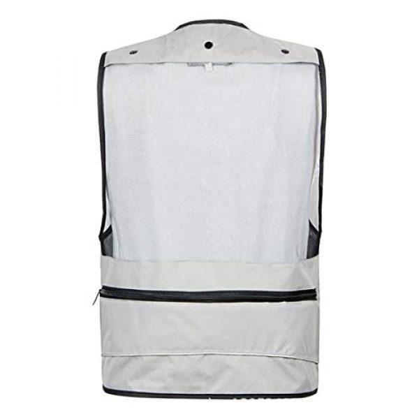 DAFREW Airsoft Tactical Vest 2 DAFREW Men's Vest Quick-Drying mesh Breathable Vest Multi-Pocket Vest Outdoor Leisure Photography Vest (Color : Black2, Size : M)