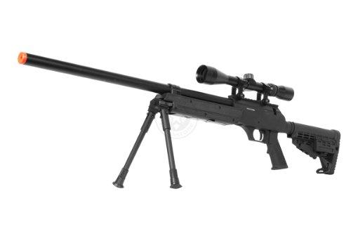 BBTac  1 Wellfire aps sr-2 modular airsoft sniper rifle - scope & bipod - black(Airsoft Gun)