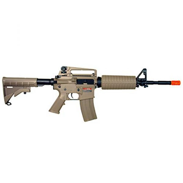 MetalTac Airsoft Rifle 3 MetalTac Electric Airsoft Gun with Metal Gearbox Version 2, Full Auto AEG, Powerful Spring 370 Fps with .20g BBS