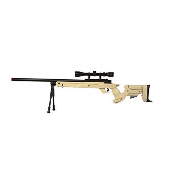 Well Airsoft Rifle 1 Well SR22 Airsoft Sniper Rifle Airsoft Gun (TAN/Scope & Bipod Package)