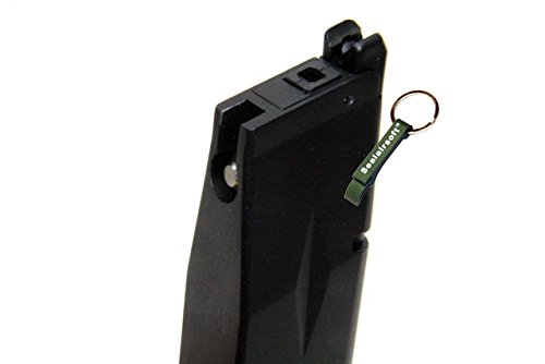 KJW  3 KJ Works 28rds Airsoft Metal 6mm GAS Magazine For KP-11 GBB Black -Mobile Ring Included