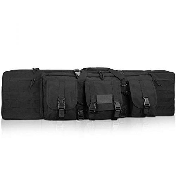 ProCase Rifle Case 1 ProCase Double Rifle Bag, Tactical Long Rifle Pistol Gun Firearm Transportation Carbine Case w/Backpack, MOLLE, Lockable Compartments
