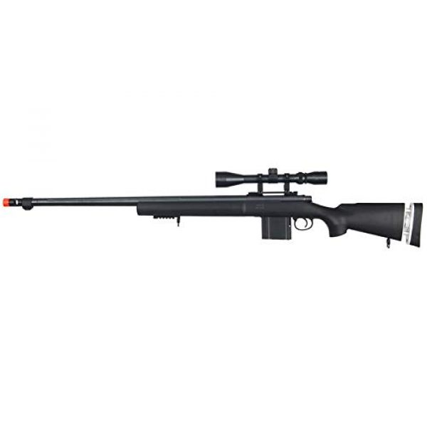 Well Airsoft Rifle 1 Well MB4405 Airsoft Sniper Rifle W/Scope - Black