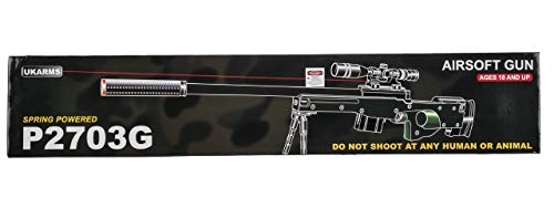 Lancer Tactical  4 300 FPS - Airsoft Sniper Spring Rifle Gun with Scope and Laser