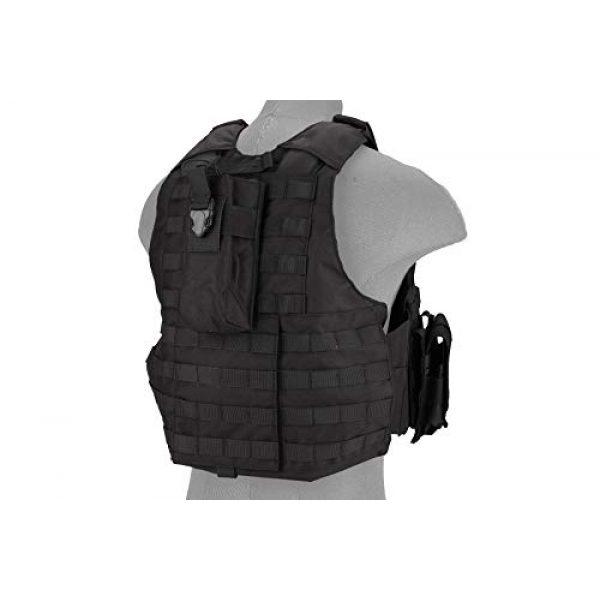 Lancer Tactical Airsoft Tactical Vest 2 Lancer Tactical 1000D Nylon Airsoft Combat Training Tactical Strike Assault Vest Black Adjustable