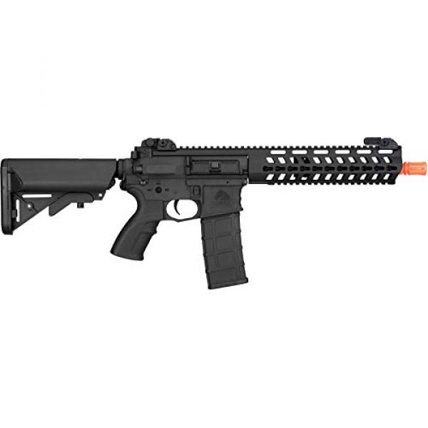 "Lancer Tactical Airsoft Rifle 2 Lancer Tactical 10.5"" Rapid Deployment Carbine M4 RDC Airsoft AEG Rifle Low Speed Black"