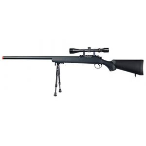 Well Airsoft Rifle 1 Well MB03 Airsoft Sniper Rifle W/Scope and Bipod - Black
