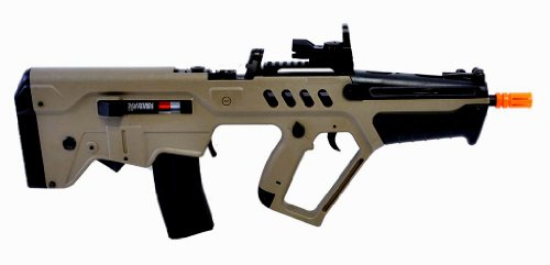 Umarex  2 umarex tavor 21 desert tan aeg airsoft rifle w/ reflex dot sight(Airsoft Gun)