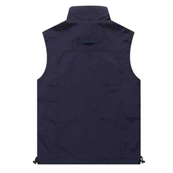 DAFREW Airsoft Tactical Vest 2 DAFREW Men's Casual Vest Multi-Pocket Vest Outdoor Fishing Photography Vest Grid Vest (Color : Royal Blue, Size : M)