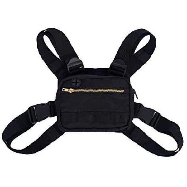 Flightbird Airsoft Tactical Vest 1 Flightbird Chest Outdoor Sports Chest Bag,Tactical Chest Bag, Men's and Women's Equipment. Leisure Running