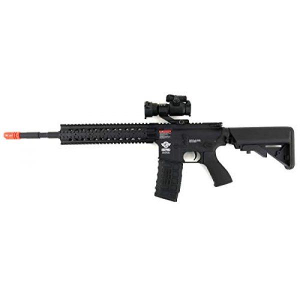 G&G Airsoft Rifle 2 G&G CM16 R8-L Combat Machine M4 AEG Airsoft Gun (Black) w/Red Dot Sight (Combo)