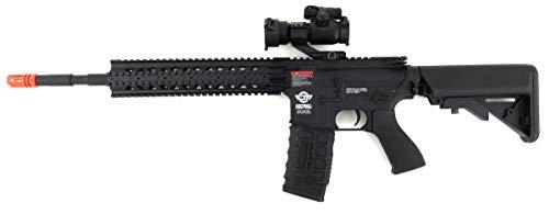 G&G  2 G&G CM16 R8-L Combat Machine M4 AEG Airsoft Gun (Black) w/Red Dot Sight (Combo)