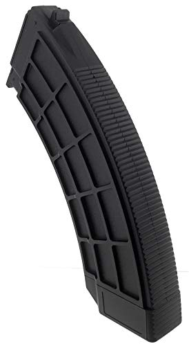 SportPro  4 SportPro 130 Round Polymer Thermold Waffle Medium Capacity Magazine for AEG AK47 AK74 Airsoft - Black