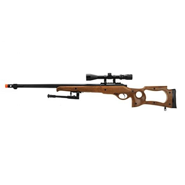 Well Airsoft Rifle 1 Well Full Metal MB10 Spring Sniper Rifle W/ Scope & Bipod (Faux Wood)