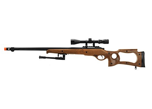 Well  1 Well Full Metal MB10 Spring Sniper Rifle W/ Scope & Bipod (Faux Wood)