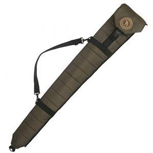 TOURBON Rifle Case 1 TOURBON Hunting Shooting Tactical Shotgun Case 52 inch Soft Gun Bag (Green, Foldable)