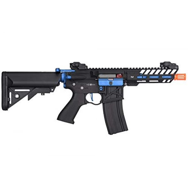 Lancer Tactical Airsoft Rifle 2 Lancer Tactical LT-29BACNL-G2-ME Enforcer AEG Airsoft Rifle Skeleton Black and Navy Blue 350 FPS