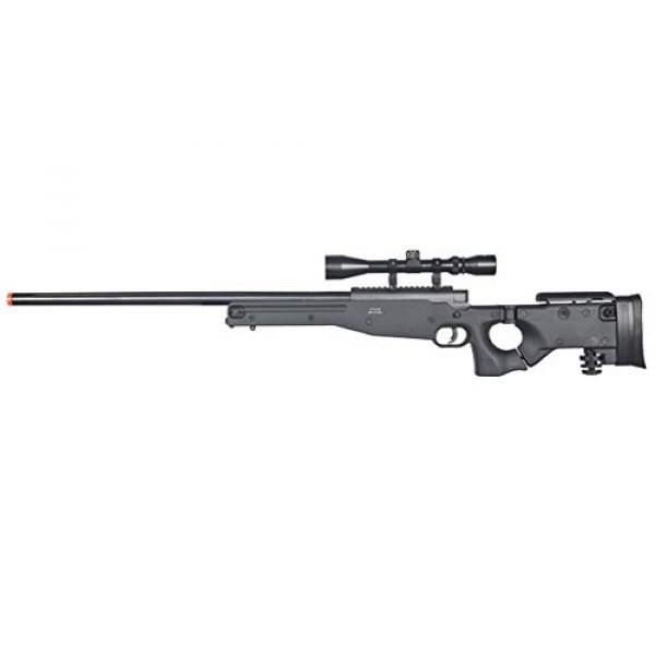 Well Airsoft Rifle 1 Well MB08 Airsoft Sniper Rifle W/Scope - Black