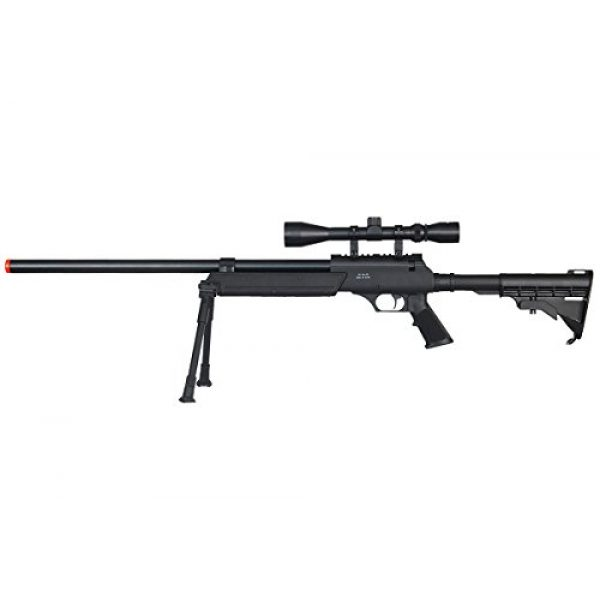 Well Airsoft Rifle 1 Well Full Metal ASR MB06 SR-2 Spring Sniper Rifle Airsoft Gun (Black/Scope & Bipod Package)
