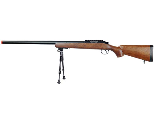 Well  1 Well MB03 Airsoft Sniper Rifle W/Bipod - Wood