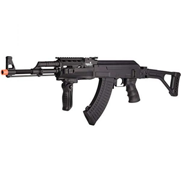 Lancer Tactical Airsoft Rifle 4 Lancer Tactical LT-728U AEG Airsoft Rifle with Folding Stock with Battery and Charger Black