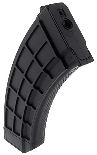 SportPro  2 SportPro 130 Round Polymer Thermold Waffle Medium Capacity Magazine for AEG AK47 AK74 Airsoft - Black