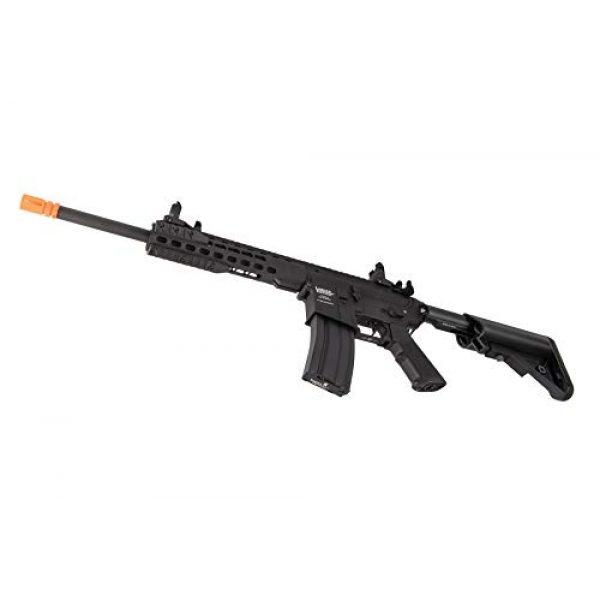 "Lancer Tactical Airsoft Rifle 5 Lancer Tactical LT-19BL-G2-M Gen 2 Airsoft M4 Carbine 10"" AEG Rifle Black"
