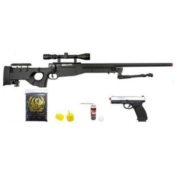 Prima USA Airsoft Rifle 1 well l96 bolt action airsoft sniper rifle hfc metal gas blowback pistol combo pk(Airsoft Gun)