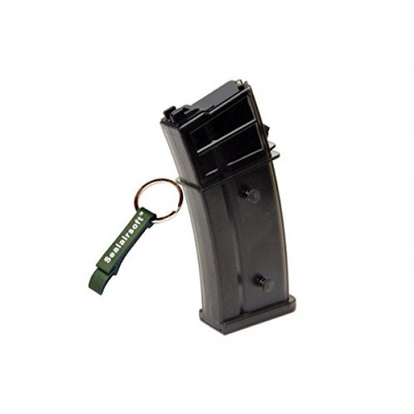 WE Airsoft Gun Magazine 1 WE 30rds Airsoft Toy Gas Magazine For G39 999 G39C Series GBB Olive Drab -Mobile Ring Included