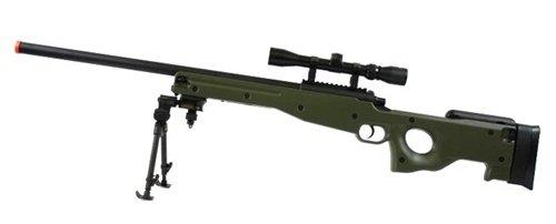 BBTac  4 BBTac BT-96 Bolt Action Sniper Rifle w/ 3-9x Scope and Bipod - OD GREEN