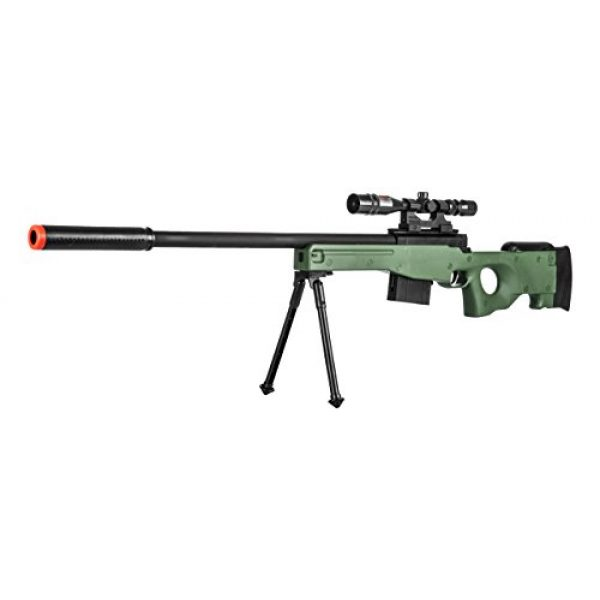 Lancer Tactical Airsoft Rifle 2 300 FPS - Airsoft Sniper Spring Rifle Gun with Scope and Laser
